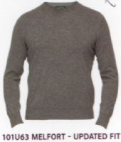 100% Cashmere Crew Neck Pullover by Alan Paine - Updated Fit- 101U63 - Melfort